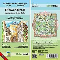 Eifelwandern 8 - Blankenheim, Nettersheim 1 : 25 000: Wanderkarte mit Radwegen, Blatt 33-559, 1 : 25 000, Dahlem, Eicherscheid, Kall, Marmagen, Schmidtheim