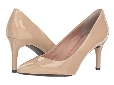 Rockport Total Motion 75mm Pointy Toe Pump (Warm Taupe) High Heels