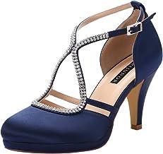 Amazon.com: Wide Navy Platform Dress Shoes