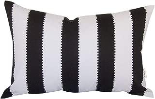 TangDepot Decorative Handmade Stripe Cotton Throw Pillow Cover, Pillow Sham, Euro sham, Lumbar Pillow Shell, Pillowcase - (12