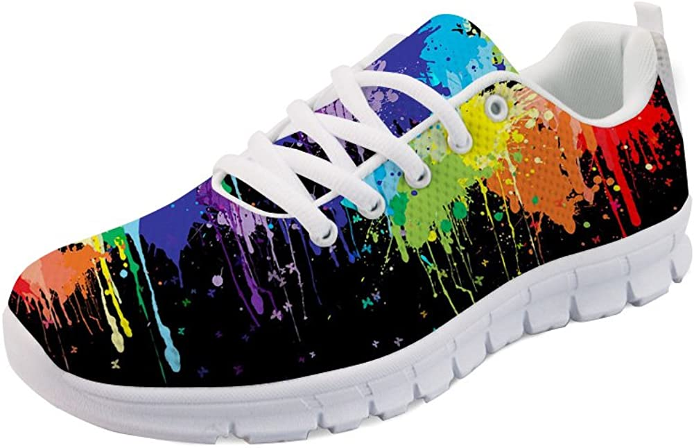 HUGS IDEA Womens Road Seattle Mall Running Sneakers Painting Colorful Fashion Ranking TOP18
