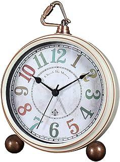 Tyst Larm 5-tums arabiska siffror lätt att läsa cirkulär retro stil väckarklocka hem skrivbord dekoration Lämplig För Sovr...
