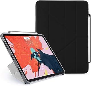 PIPETTO Origami Pencil iPad Case Pro 11 بوصة (2018) | TPU مقاوم للصدمات مع حامل 5 في 1 أسود مع Apple Pencil 2 التخزين، مزا...