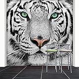 WTD - Papel pintado 274 x 254 cm de tigre blanco