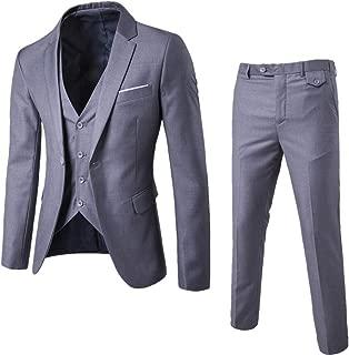 3pcs / Ensemble de Luxe Plus la Taille Des Hommes d'adventes Formelle Gilet Veste Costume Smoking de Mariage Grey XXXXXXL 3pieza(s)