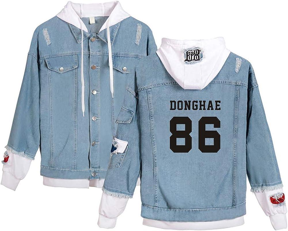 Super Junior KPOP Jeans Hoodies Casual Denim Jacket para Hombres/Mujeres Sudaderas con Capucha Cárdigan Chaqueta de Mezclilla HeeChul LeeTeuk YeSung ...