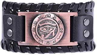 Vintage Ancient Egypt Leather Eye of Horus Symbol Bracelet Egyptian Accessories Jewelry