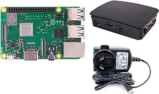 Raspberry Pi 3 Model B+ Official Case + Official 5.1v 2.5a Power Supply | Starter Pack | Brand New Release