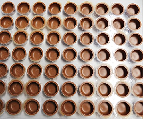 Pralinen Halb-Schalen, rund, Vollmilch, ø 29mm, 15mm hoch 63 Stück -