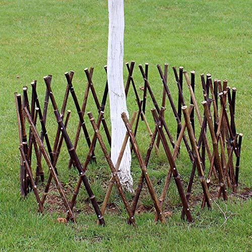 JIANFEI-Valla de jardín Valla De Madera Cerca De Bambú Barandilla Infantil Borde De La Cama De Flores Decoración Hogareña Impermeable, 2 Colores, 4 Tallas (Color : A, Size : 60x180cm)