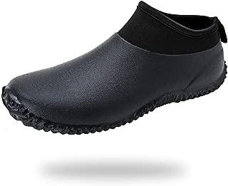 babaka Men's Rain Shoes Garden Waterproof Women's Rain Boots Rubber Outdoor Footwear