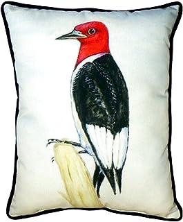 "Betsy Drake SN310 Redheaded Woodpecker Pillow, 11"" x14"""