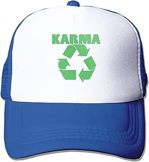Baisui Karma Recycle Men Cap Denim Cotton Adjustable Hat Custom Funny Fishing Visor Ash Mesh Trucker Hat