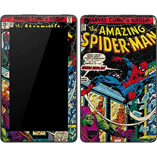 Skinit Decal Tablet Skin Compatible with Kindle Fire (7in 2015) - Officially Licensed Marvel/Disney Marvel Comics Spiderman Design