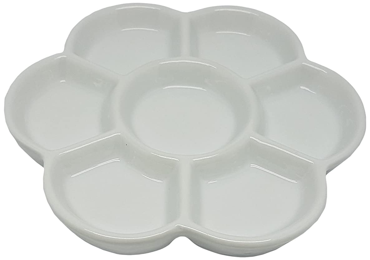 Porcelain 7 Well Daisy Mixing Tray 6
