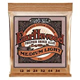 Ernie Ball Earthwood Medium Light Phosphor Bronze Acoustic Guitar Strings - 12-54 Gauge