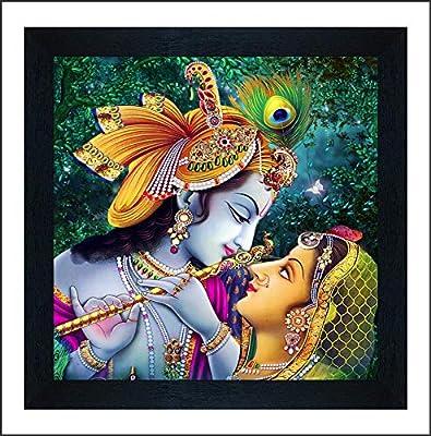 SAF Radha Krishna UV Coated Multi-Effect Digital Reprint Painting 12 inch X 12 inch SANF21058