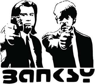 FSDS Wall Vinyl Stickers - Banksy Pulp Fiction Inc Logo Wall Art Sticker - Home Decoration Wall Decals