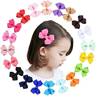 2.4 Inch Baby Girls Tiny Hair Bows Clips Fully Lined Snap Babies Toddlers Hair Pins Hair Accessories