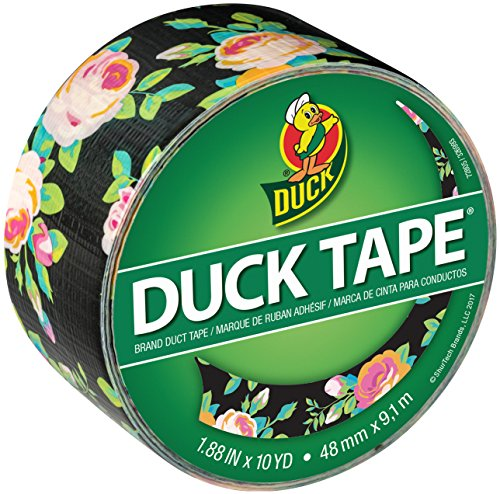 Duck Brand 241792 Color Printed Duct Tape, 1.88 Inch x 10 Yards, Neon Floral