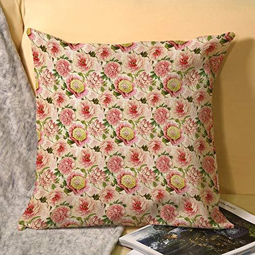 Redouté - Fundas de almohada (lino, 45 x 45 cm)