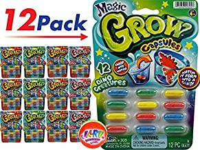 JA-RU Magic Grow Capsules (12 Packs 144 Capsules) Best Growing Animals Dinosaurs Capsules Bath Toys for Kids. and 1 Bouncy Ball. Bulk Supply. 305-12p