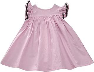 Summer Dresses Newborn Toddler Baby Girls Solid Princess Zipper Fashion Princess Casual Dress for Girl