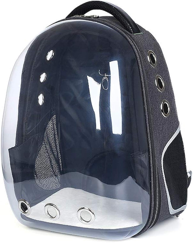 JKL Haustier Katze Hund Welpen Rucksack Trger, Space Capsule Design Handtasche Transparente Reisetasche, Safe & Atmungsaktiv, Tragbar, 33x28x44cm