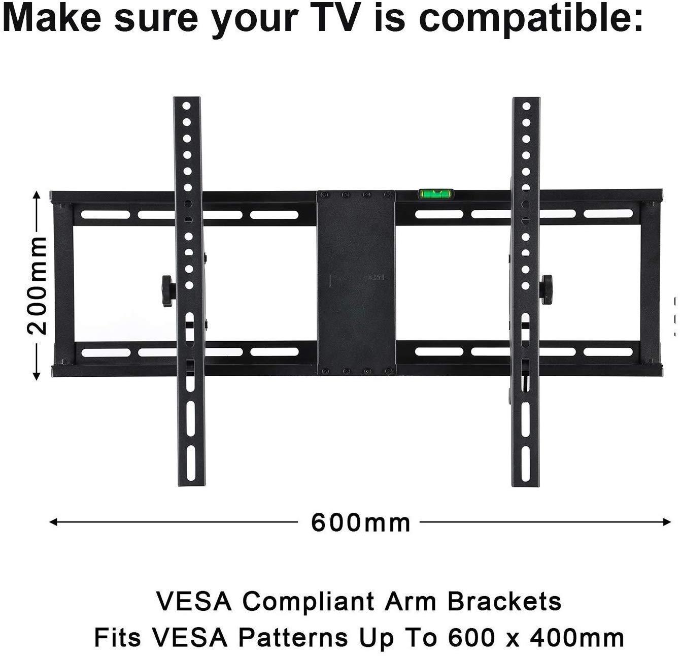 Inclinación de TV Soporte - Slim TV inclinable compacto de montaje ...