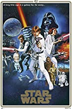 Star Wars: Episode IV - A New Hope - Movie Poster/Print (40th Anniversary Gold Border Edition - Regular Style C) (Size: 24 inches x 36 inches)