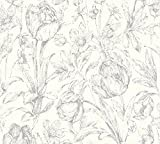 A.S. Création Vliestapete Memory 3 Tapete floral 10,05 m x 0,53 m metallic weiß Made in Germany 329853 32985-3