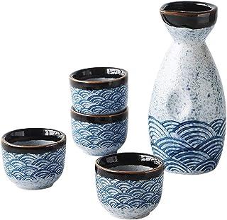 YARNOW 1 Set/ 5 Stück Keramik Japanisches Sake Set Vintage Stil Sake Flasche Und Sake Tassen
