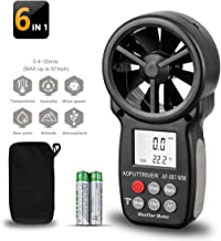 AOPUTTRIVER Digital Anemometer Handheld Wind Speed Meter,Wind Speed Gauges for Measuring Wind Speed,Temperature and Wind Chill with Backlight and Max/Min (AP-007) (007WM+Tripod)