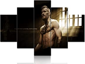 Extra Large Wall Art 5 Panels Conor McGregor Canvas Giclee Prints Painting Pictures Wall Art Home Decor Gifts Paintings Modern Artwork Home Decor Framed Gallery-wrapped Ready to Hang (60''Wx40''H)