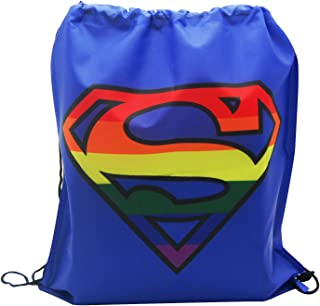 3 pieces Batman V Superman DC TM Comic Drawstring Backpack Sling Tote Gym Bag