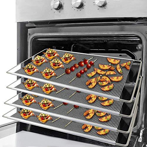 Spares2go Lot de 4 plateaux extensibles réglables pour cuisinières Amica 320 x 430 x 630 mm