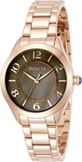 Invicta Women's Angel Quartz Watch with Stainless Steel Strap, Rose Gold, 16 (Model: 31113)