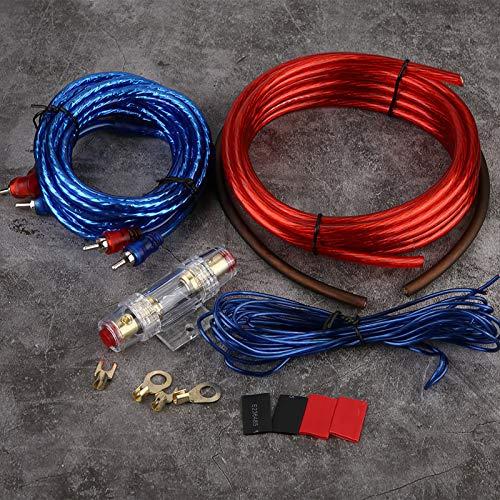 Yisenda Cable Amplificador de Coche, Cable Amplificador de Audio de Aluminio Revestido de Cobre de precisión, Accesorio de Coche Audio