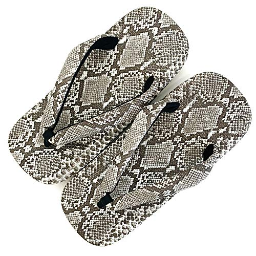 [竹春] 雪駄 メンズ 蛇柄 日本製 おしゃれ 草履 室内履き 男性 浴衣 和装 履物 SETTA 総ヘビ柄 L 標準 25.0〜26.5cm