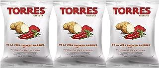 Torres De La Vera Smoked Paprika Potato Chips (3 Pack - 1.41 oz each)
