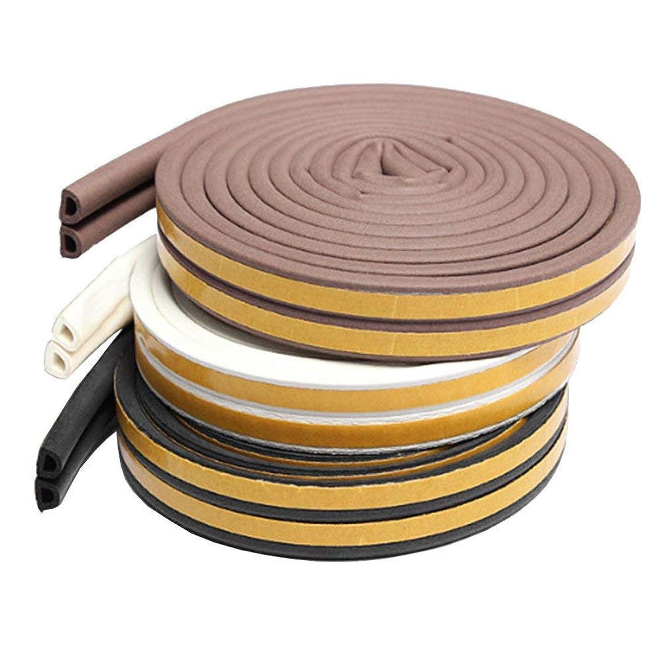 兵士死ぬイヤホン隙間テープ 戸あたり ゴム テープ ドア 気密 窓 棚 スキ用テープ 強力接着剤 すきま風防止 防音 防風 防虫 騒音対策 D型 5M