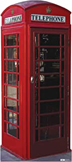 Advanced Graphics English Phone Booth Life Size Cardboard Cutout Standup