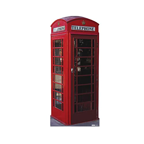 c4d226dce8e Advanced Graphics English Phone Booth Life Size Cardboard Cutout Standup