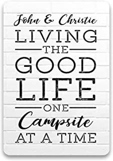 Camping Accessories Personalized Wood Metal Decorative Signs rv Camper Accessories for Travel Trailers Wall Decor Custom L...