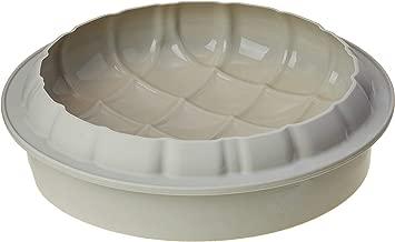 Silikomart Eleganza (Elegance) Silicone Mold, Flexible Cake Pan with 3D Tufted Detailing, Easily Unmolds, Oven, Microwave, Freezer and Dishwasher Safe, 57-1/2-Fluid Ounces (Grey)