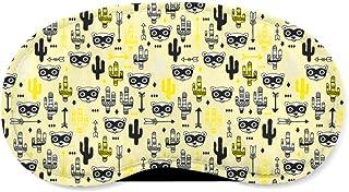 Raccoon Bandit Wild West Yellow - Sleeping Mask - Sleeping Mask
