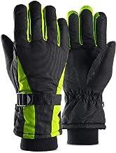 WXZM Guantes De Moto, Guantes De Invierno Cálidos para Moto A Prueba De Viento, Equipamiento Deportivo Al Aire Libre para Montar En Moto,Green