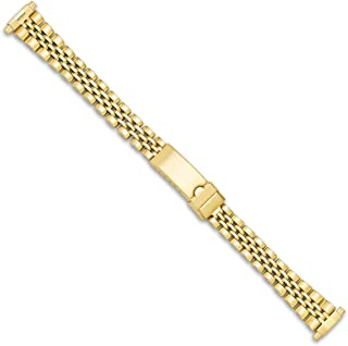 Women's Jubilee Link Style Metal Watch Band - Gold - (fits 12mm to 15mm)