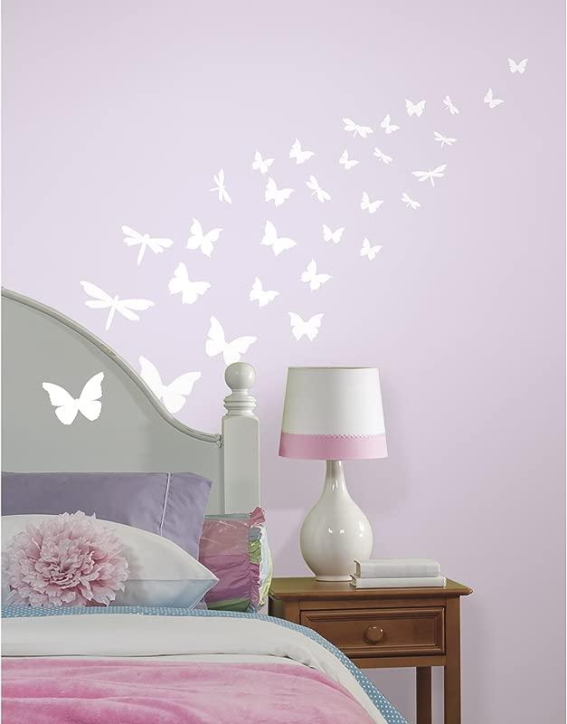 RoomMates Butterflies Dragonflies Glow In The Dark Wall Decals
