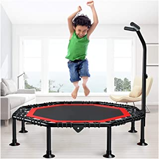 DRXYANG Children's Trampoline,Bounce Mini Adult Fitness Trampoline with Adjustable t-Bar Stability Handle,Kids Mini Trampoline,Exercise Trampoline Foldable,Trampoline